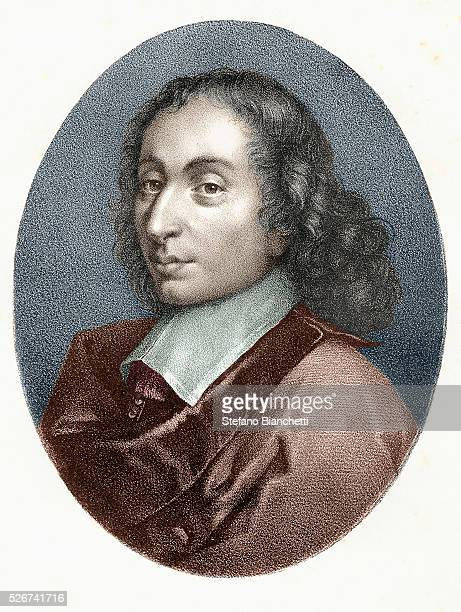 An engraving of Blaise Pascal after a 17thcentury French painting