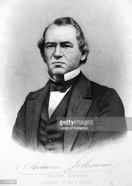 An engraving showing President Andrew Johnson March 13 1868 The House approved 11 articles of impeachment against Andrew Johnson in 1868 arising...