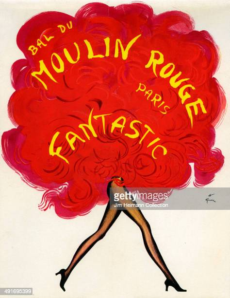 An entertainment programme for Moulin Rouge reads 'Dal Du Moulin Rouge Paris Fantastic' from 1972 in Paris France