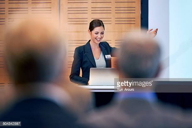An enthusiastic young speaker
