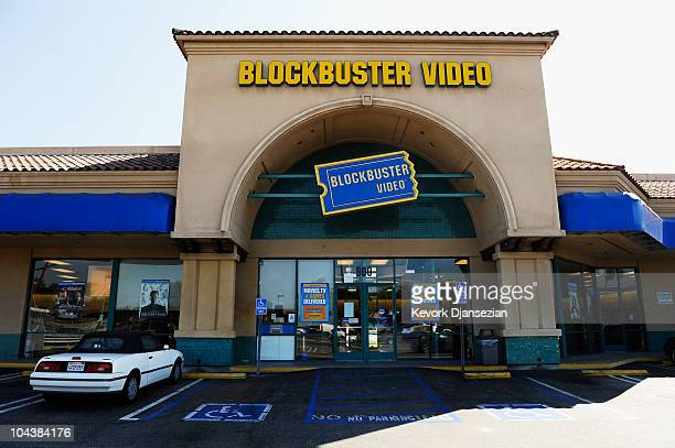 An entrance to the Blockbuster store is seen on September 23 2010 in Glendale California The videorental business filed for Chapter 11 bankruptcy...