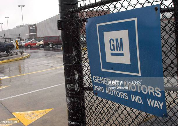 An entrance to the General Motors Doraville Assembly Plant is shown November 21 2005 in Doraville Georgia The plant is one of nine manufacturing...