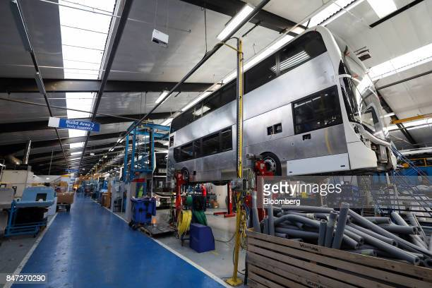 An Enviro 400 London bus stands on the production line at the Alexander Dennis Ltd factory in Scarborough UK on Wednesday Sept 13 2017 Manufacturing...