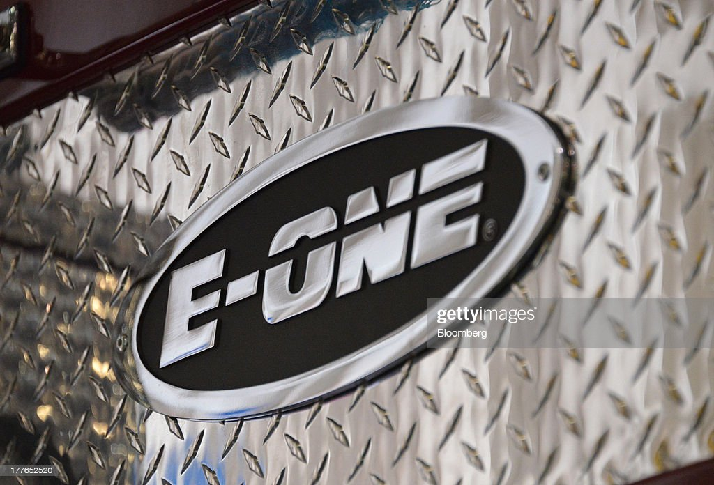 An E-ONE Inc. logo sits on a completed truck at the E-ONE factory, on Tuesday, Aug. 20, 2013, in Ocala, Florida, U.S. The U.S. Census Bureau is scheduled to release durable goods figures on Aug. 26. Photographer: Mark Elias/Bloomberg via Getty Images