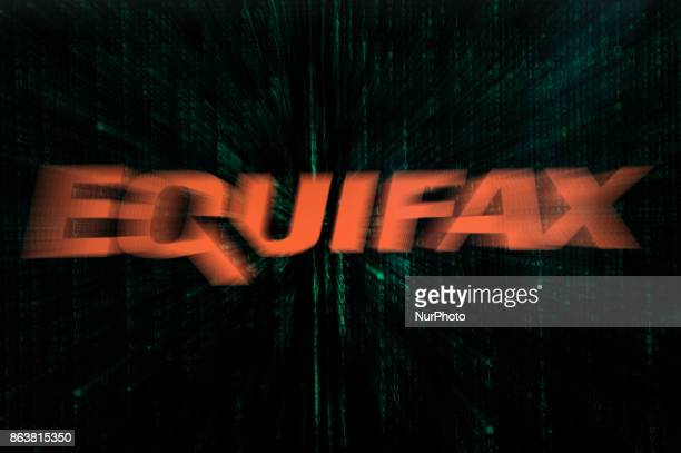 An Equifax logo is seen in this photo illustration on 20 October 2017 The consumer credit reporting agency was hacked twice in 2017 In the last...