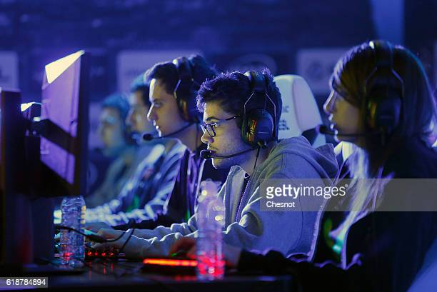 An ESports player competes a video game 'League of Legends' developed by Riot Games during an electronic video game tournament at the 'Paris Games...