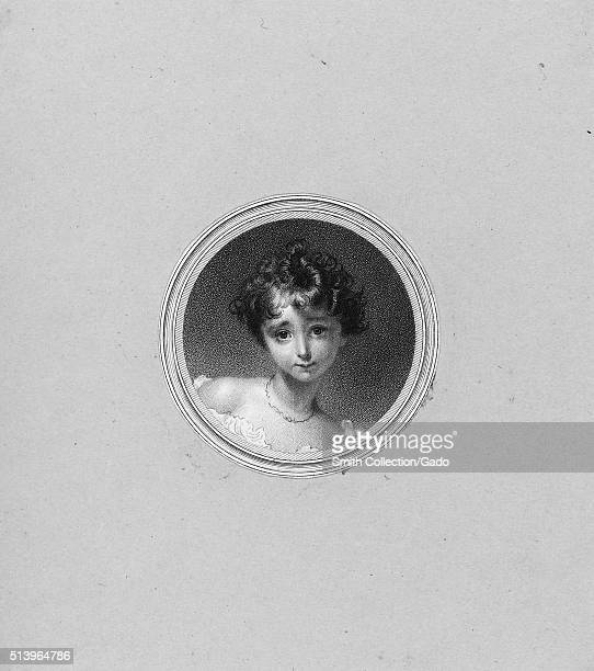 An etching from a portrait of a young Ada Lovelace she was the only legitimate child of Lord Byron she wrote the firs algorithm that was meant to be...