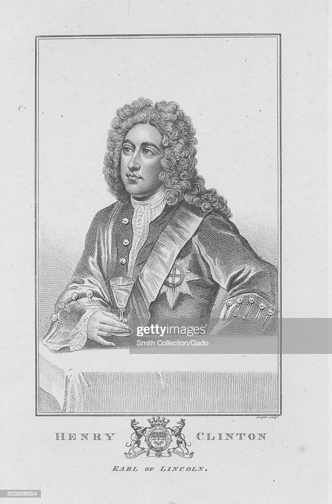 An etching from a portrait of Henry Clinton 7th Earl of Lincoln he was the brotherinlaw of Thomas PelhamHolles 1st Duke of Newcastle who was a...