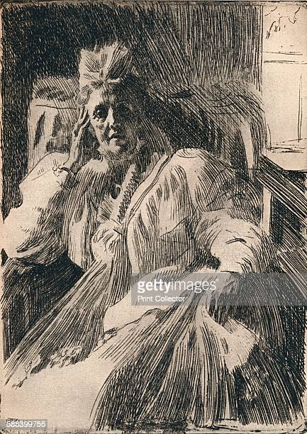 An Etching of the Dowagger Queen of Sweden circa 1909 An etching of Sophia Wilhelmine Marianne Henriette The Dowager of Sweden From The Studio Volume...