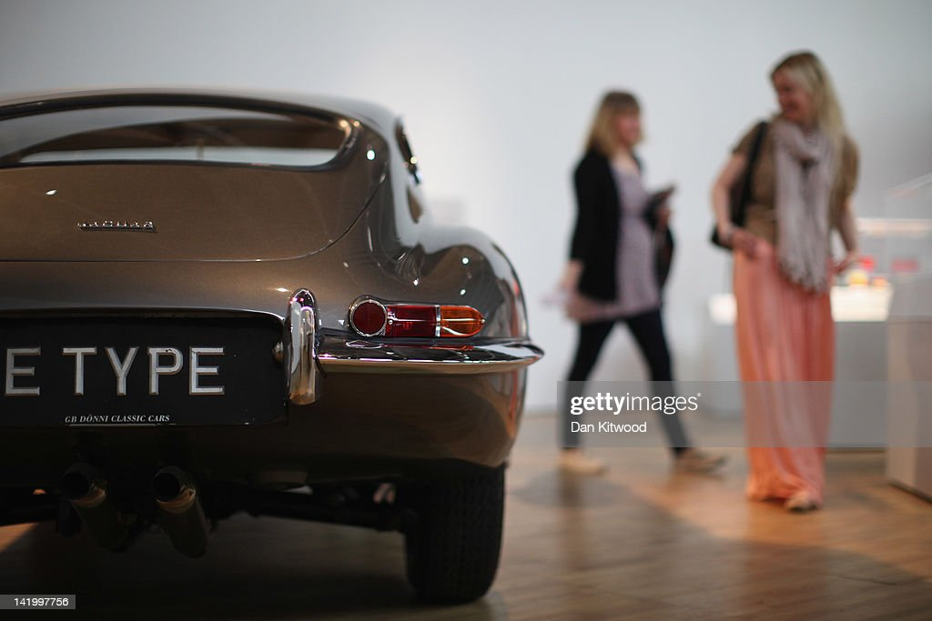 An E-Type Jaguar is display at the Victoria and Albert museums' new major exhibition, 'British Design 1948-2012: Innovation In The Modern Age' on March 28, 2012 in London, England. The exhibition showcases some of the most iconic product design, fashion, furniture, graphics, architecture and fine art from the last 60 years, and opens to the public from March 31, 2012.