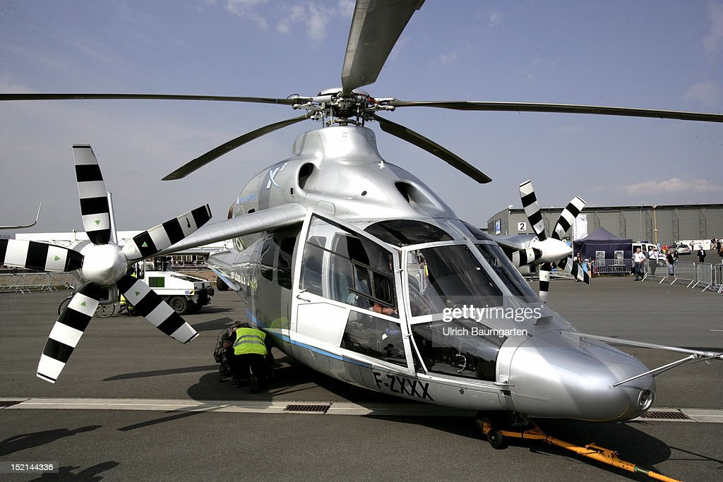 An Eurocopter at the ILA Berlin Air Show on September 11, 2012 in Schoenefeld near Berlin, Germany. The 2012 international air fair runs from September 11 to 16, 2012.