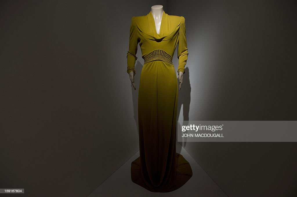 An evening gown worn by actress Cate Blanchett (as Katharine Hepburn) in 'The Aviator (2004) is on display at the Martin Scorsese exhibition at the Deutsche Kinemathek, Museum for Film and Television in Berlin, Germany on January 9, 2013. The museum opens from January 10 to May 12, 2013 what it calls the first exhibition worldwide dedicated to the work of veteran US film-maker Martin Scorsese, who made his vast archive available for the show. A
