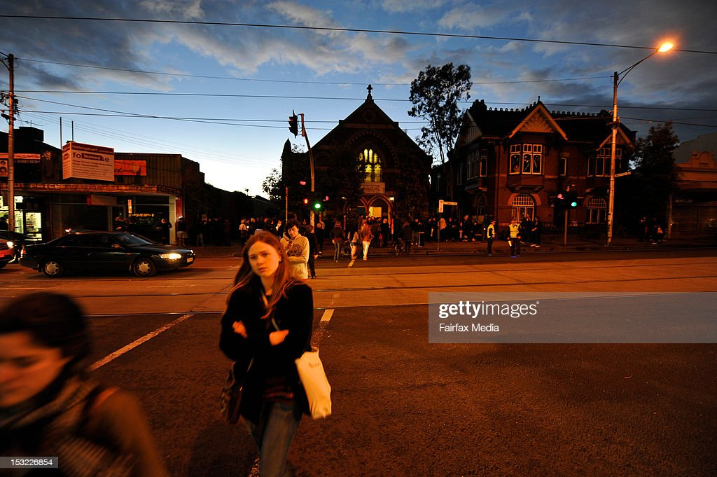 An evening vigil is held at Brunswick Baptist Church in Melbourne in memory of murdered Irish woman, Jill Meagher, September 28 2012. Coburg man Adrian Ernest Bayley was charged with the murder and rape of Irish national Jill Meagher. Her body was found by police buried in a shallow grave north-west of Melbourne.