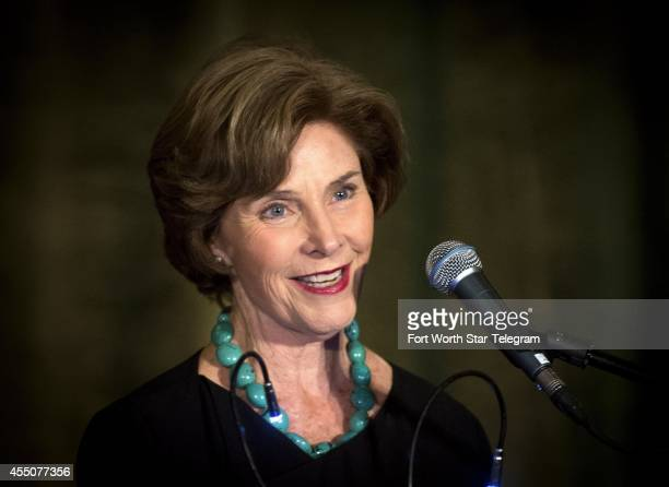 An Evening with Laura Bush at the Fort Worth Convention Center where the former first lady is the guest speaker at the Read2Win Dinner on Tuesday...