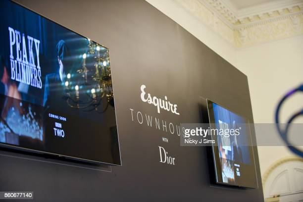 An Evening with Steven Knight and Cillian Murphy from Peaky Blinders at Esquire Townhouse with Dior at Carlton House Terrace on October 12 2017 in...