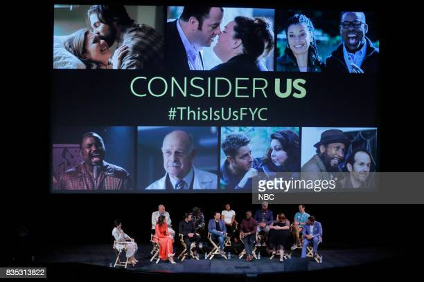 US 'An Evening With the Creator and Stars of the EmmyNominated Broadcast Drama This is Us' Pictured Front Row Nellie Andreeva Moderator Mandy Moore...