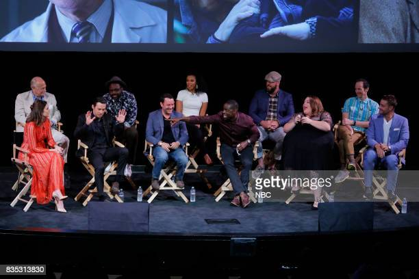 US 'An Evening With the Creator and Stars of the EmmyNominated Broadcast Drama This is Us' Pictured Front Row Mandy Moore Milo Ventimiglia Dan...