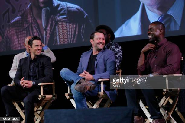 US 'An Evening With the Creator and Stars of the EmmyNominated Broadcast Drama This is Us' Pictured Milo Ventimiglia Dan Fogelman Sterling K Brown at...