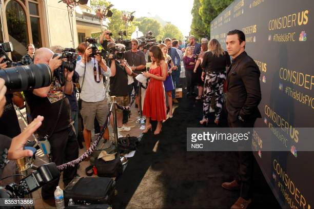 US 'An Evening With the Creator and Stars of the EmmyNominated Broadcast Drama This is Us' Pictured Milo Ventimiglia at the Paramount Studios lot...