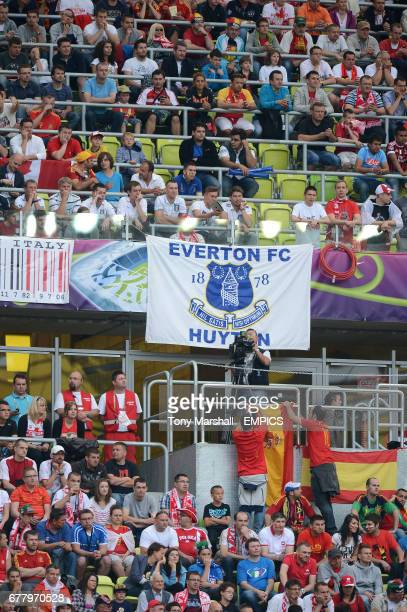 An Everton banner in the crowd in the PGE Arena