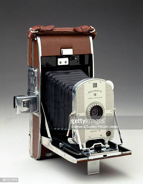 An example of the first commercially produced Polaroid camera designed by Edwin H Land and first manufactured in 1948 The model 95 was loaded with...