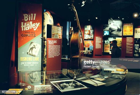 An exhibit dedicated to the early rockandroller Bill Haley and the Comets in the Museum