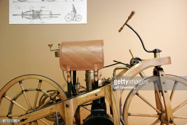 An exhibit of a reproduction of the 1885 Daimler Motorcycle in the Visitors Center at the MercedesBenz SUV manufacturing plant in Vance
