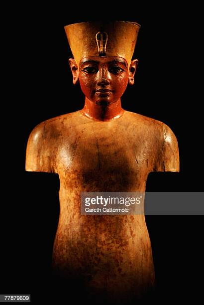 An exhibit on display during the press viewing of the 'Tutankhamun The Golden Age of the Pharaohs' exhibition at the O2 Arena on November 13 2007 in...