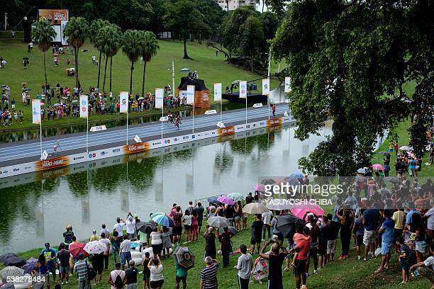 An exhibition race event at Quinta da Boa Vista park in Rio de Janeiro Brazil on June 5 2016 / AFP / YASUYOSHI CHIBA