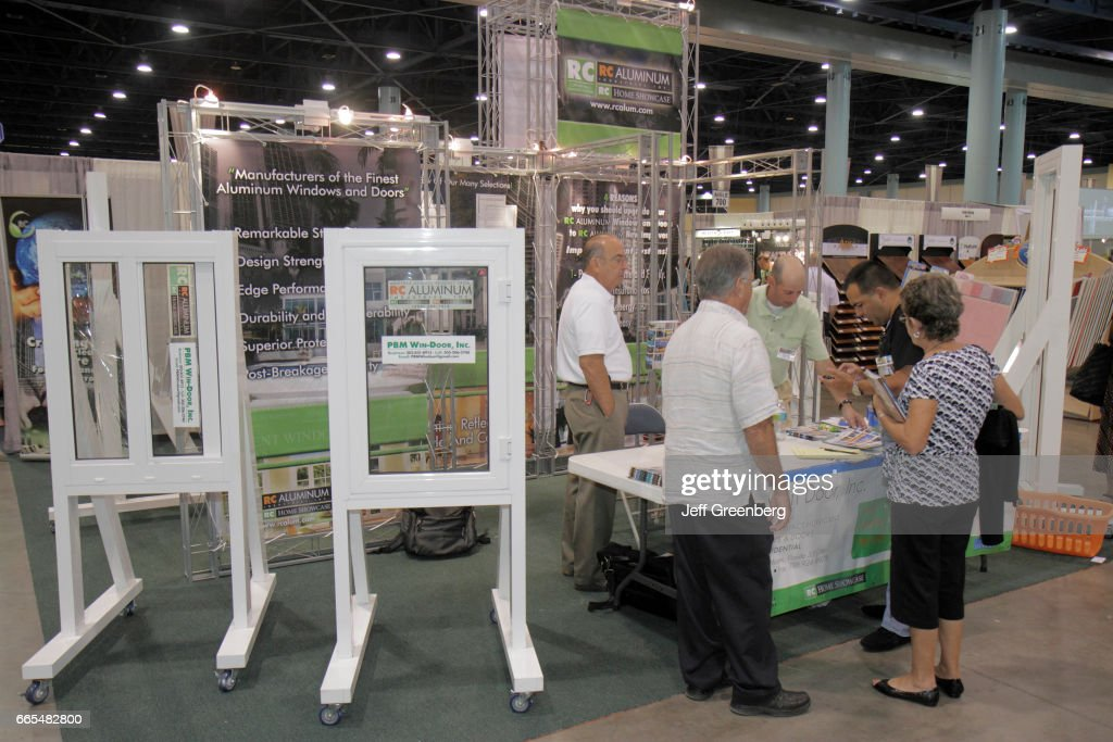 An Exhibitor At The Home Design And Remodeling Show At Miami Beach  Convention Center.
