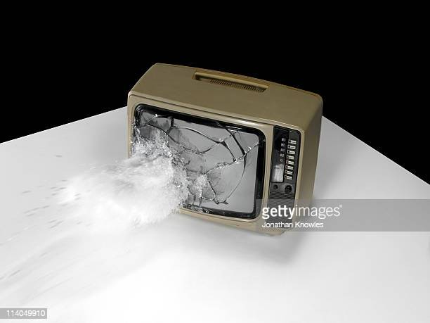 An exploding old tv