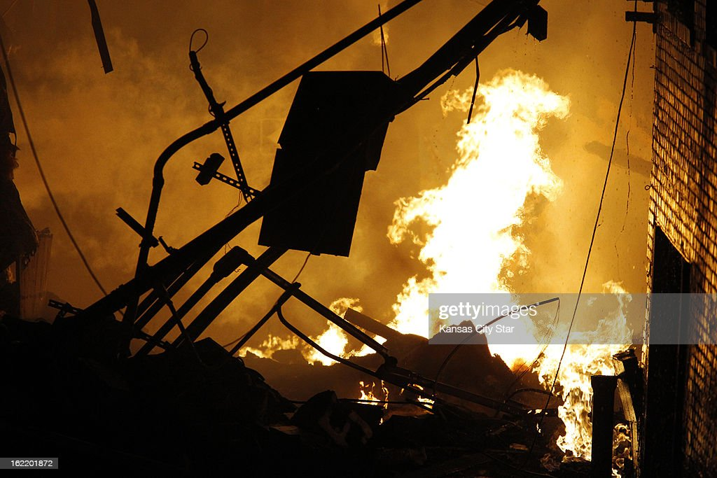 An explosion and fire sent at least 15 people to area hospitals and destroyed JJ's restaurant, at 910 W. 48th Street, in Kansas City, Tuesday evening, February 19, 2013, on the west side of the Country Club Plaza.