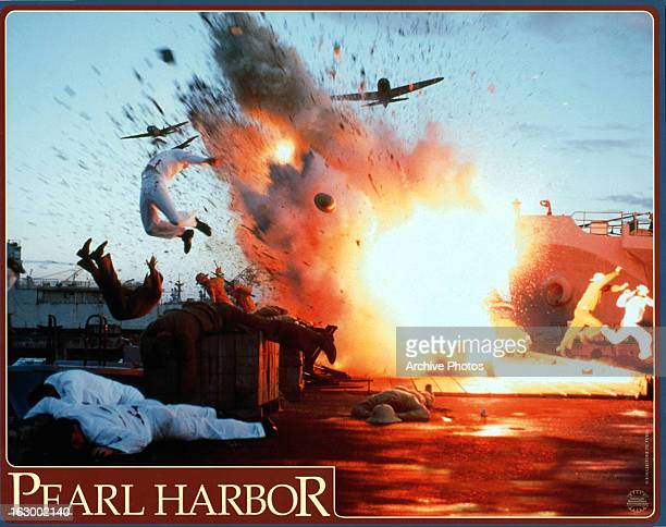 An explosion in a scene from the film 'Pearl Harbor' 2001