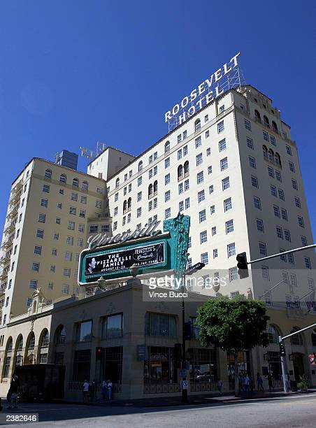 An exterior of the landmark Hollywood Roosevelt Hotel on August 8 2003 in Hollywood California