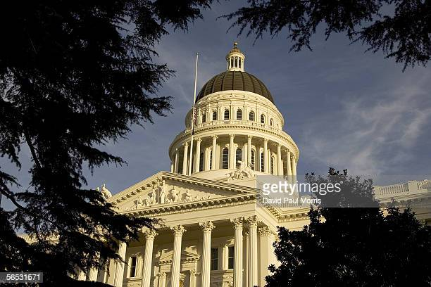 An exterior of the state capitol is shown on January 5 2006 in Sacramento California California Governor Arnold Schwarzenegger delivered his state of...
