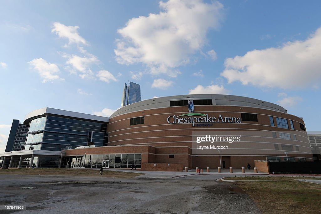An exterior shot of Chesapeake Energy Arena on April 4, 2013 at the Chesapeake Energy Arena in Oklahoma City, Oklahoma.