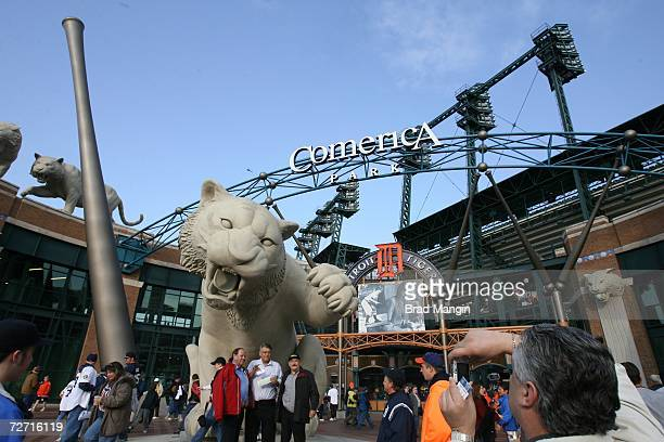An exterior shot of Comerica Park prior to Game One of the 2006 World Series between the St Louis Cardinals and the Detroit Tigers on October 21 2006...