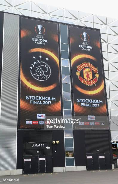 An exterior shot of Friends Arena ahead of the UEFA Europa League Final at Friends Arena on May 23 2017 in Stockholm Sweden