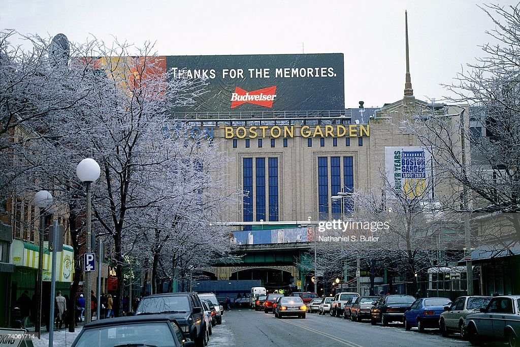 An exterior shot of the Boston Garden prior to a Celtics game in 1989 in Boston Massachusetts NOTE TO USER User expressly acknowledges that by...