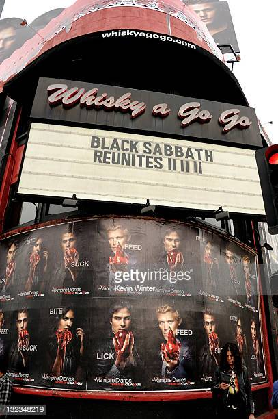 An exterior shot of the Whisky a Go Go is shown at a press conference to announce Black Sabbaths first new album in 33 years and a world tour in 2012...