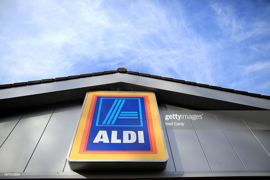 An exterior view of a branch of the budget supermarket Aldi on November 7, 2013 in Bristol, England. As the German chain opens its 500th store in the affluent Bury St Edmunds, some retail experts are claiming that the low-cost supermarket is trying to attract more affluent shoppers, in particular by offering large discounts on luxury items.