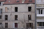 An exterior view of a house where terrorists were hidden after a police operation against terrorists in Saint Denis a northern suburb of Paris on...