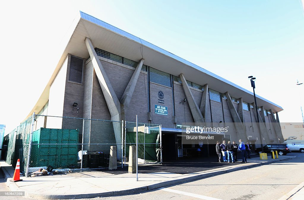 An exterior view of Abe Stark Arena where Hockey Hall of Famer Wayne Gretzky made an appearance on February 25, 2013 in New York City. The event was organized by TD Bank who donated funds to the Greater New York City Ice Hockey League to replace equipment that was lost or destroyed during Superstorm Sandy.