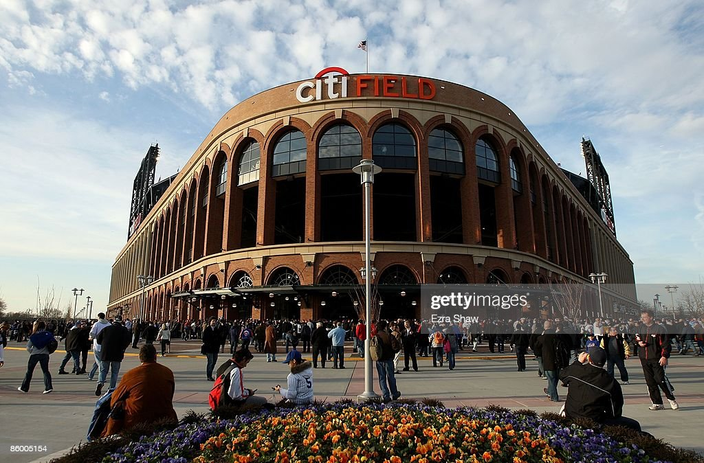 An exterior view of Citi Field before the New York Mets played the San Diego Padres on April 15 2009 in the Flushing neighborhood of the Queens...