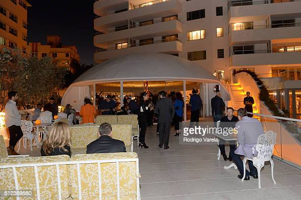 An exterior view of Faena Hotel during a Dinner Hosted By Francis Mallmann And Paul Qui during 2016 Food Network Cooking Channel South Beach Wine...