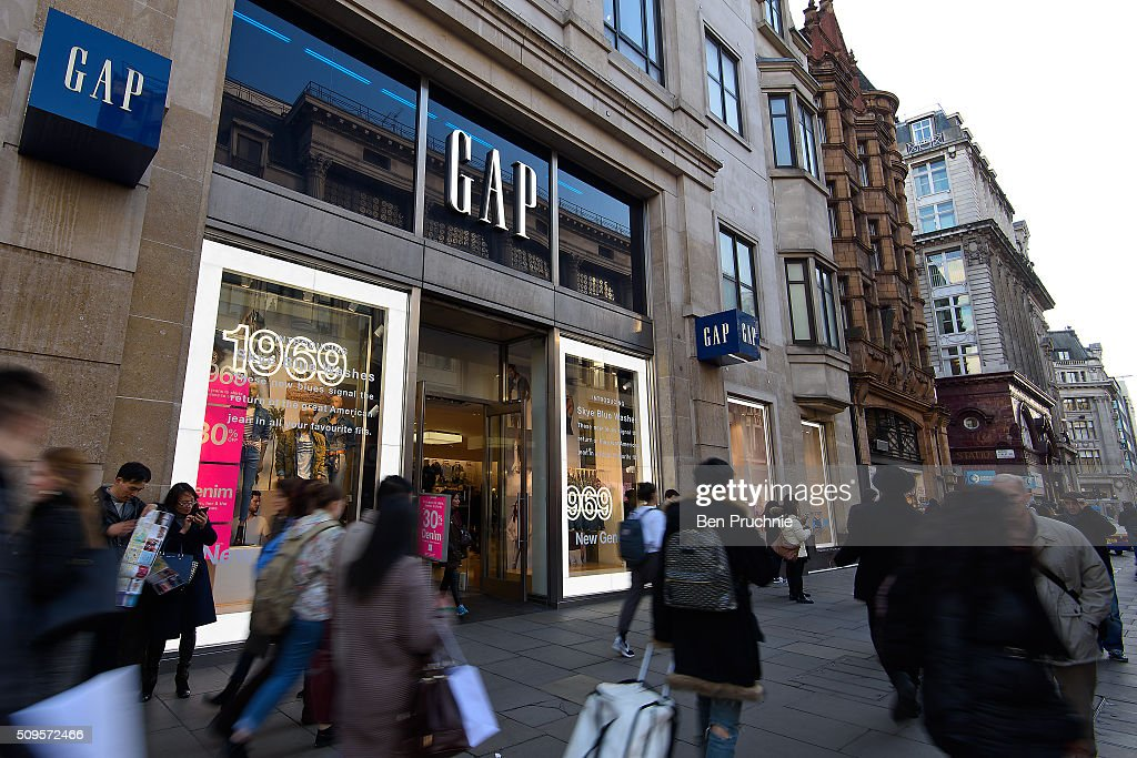 An exterior view of fashion retailer Gap's Oxford Street store on February 11, 2016 in London. The American clothing retailer with a turnover of 300 million GDP from the company's 132 stores in Britain, has come under fire for paying no corporation tax in the UK since 2011.