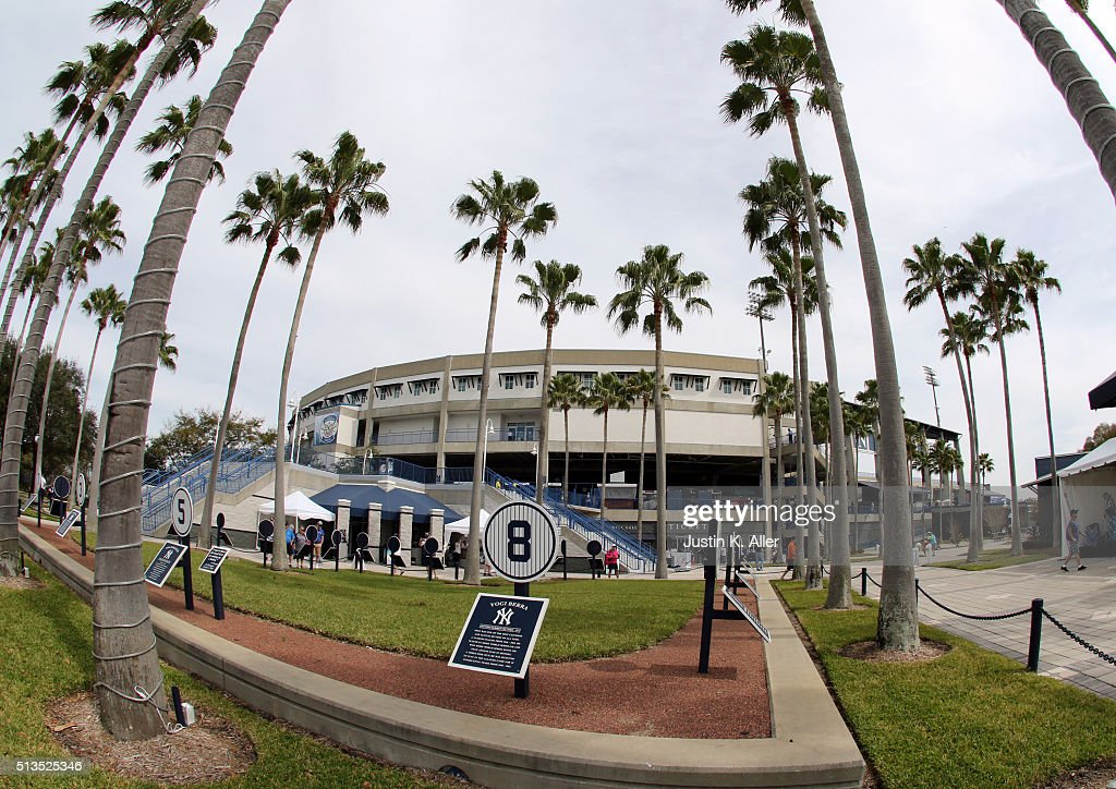An exterior view of George M. Steinbrenner Field before the game against the Philadelphia Phillies at George M. Steinbrenner Field on March 3, 2016 in Clearwater, Florida.