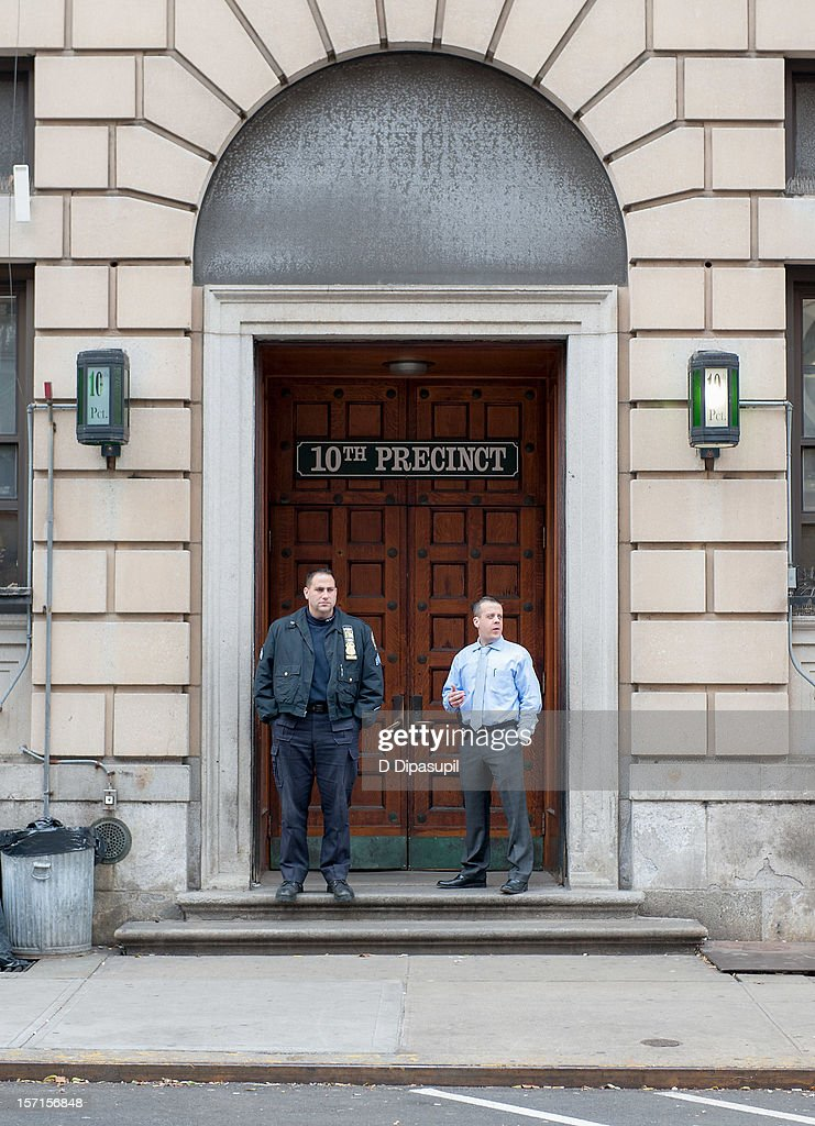An exterior view of New York City Police Department 10th Precinct at NYPD 10th Precinct on November 29, 2012 in New York City. Lindsay Lohan was charged with third-degree assault after being taken to the 10th precinct following an alleged assault on woman at club Avenue NYC early this morning.