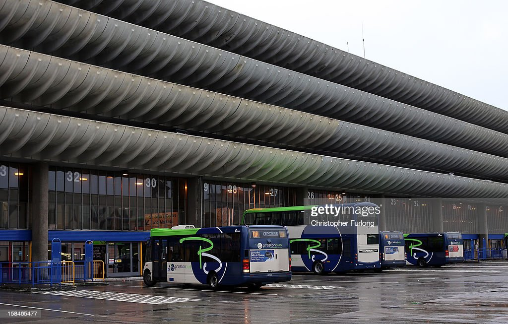 An exterior view of Preston Bus Station and it's multi storey car park on December 17, 2012 in Preston, Lancashire. Preston Bus Station is described as great example of Brutalist architecture and is on a list of 'treasured places at risk' compiled by the World Monument organisation. A 1,500 signature petition has been complied to save the bus station and it's public car park which was also recently voted as Preston's favourite building and today Preston City Council will vote to decide the future of the bus station which was built in 1969. The council says that it will cost 23 million GBP to refurbish and only 16 million GBP to demolish.