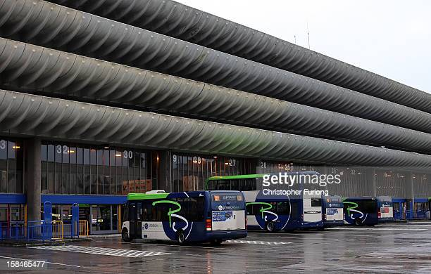 An exterior view of Preston Bus Station and it's multi storey car park on December 17 2012 in Preston Lancashire Preston Bus Station is described as...